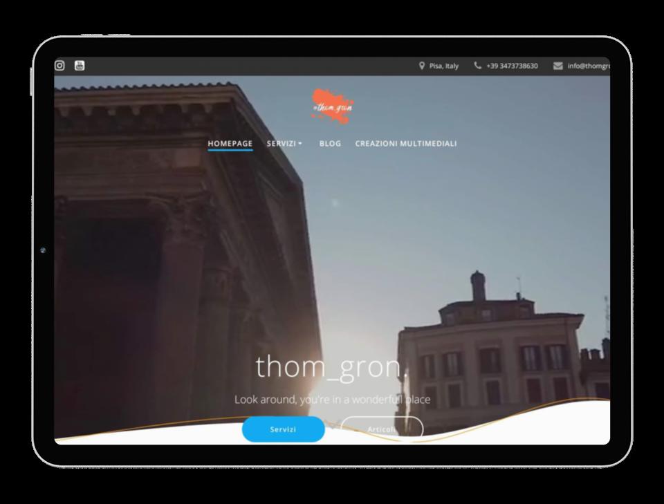 tablet con sito web aperto