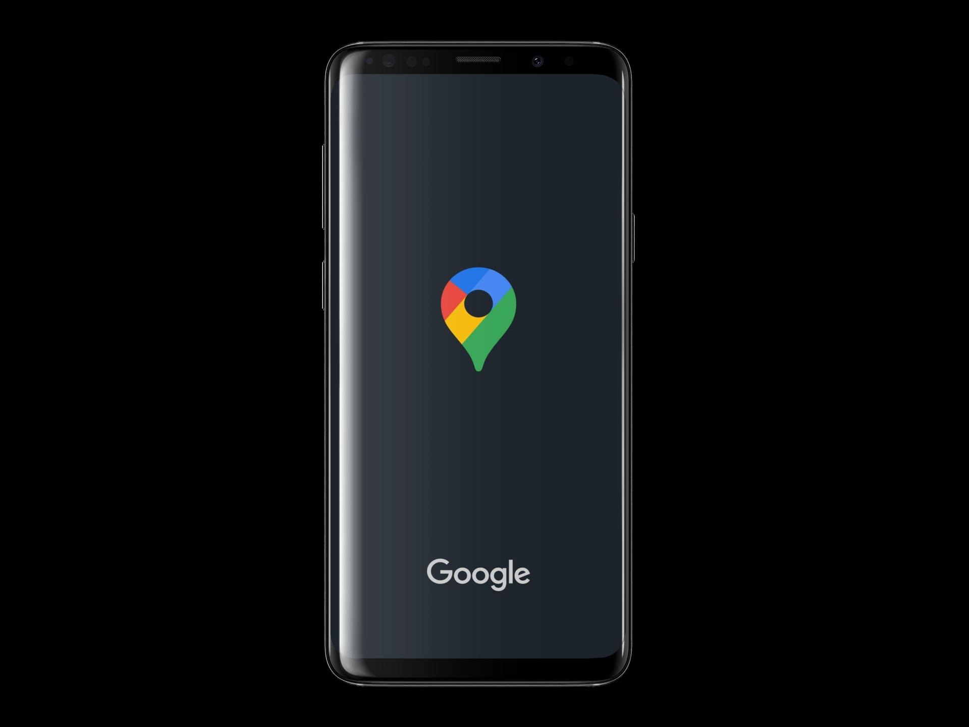 Schermata principale di google maps